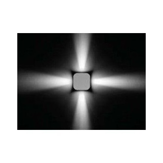 Apparecchio decorativo di forma quadrata da esterni a parete Ares Marco Led omnidirezionale (fascio stretto 10°)