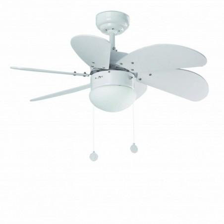 Ventilatore con luce Faro Barcelona Palao