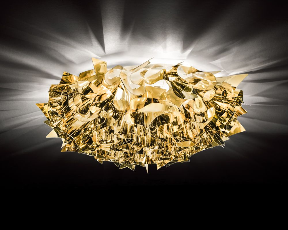Lampada a soffitto slamp veli gold silver copper brillaluce