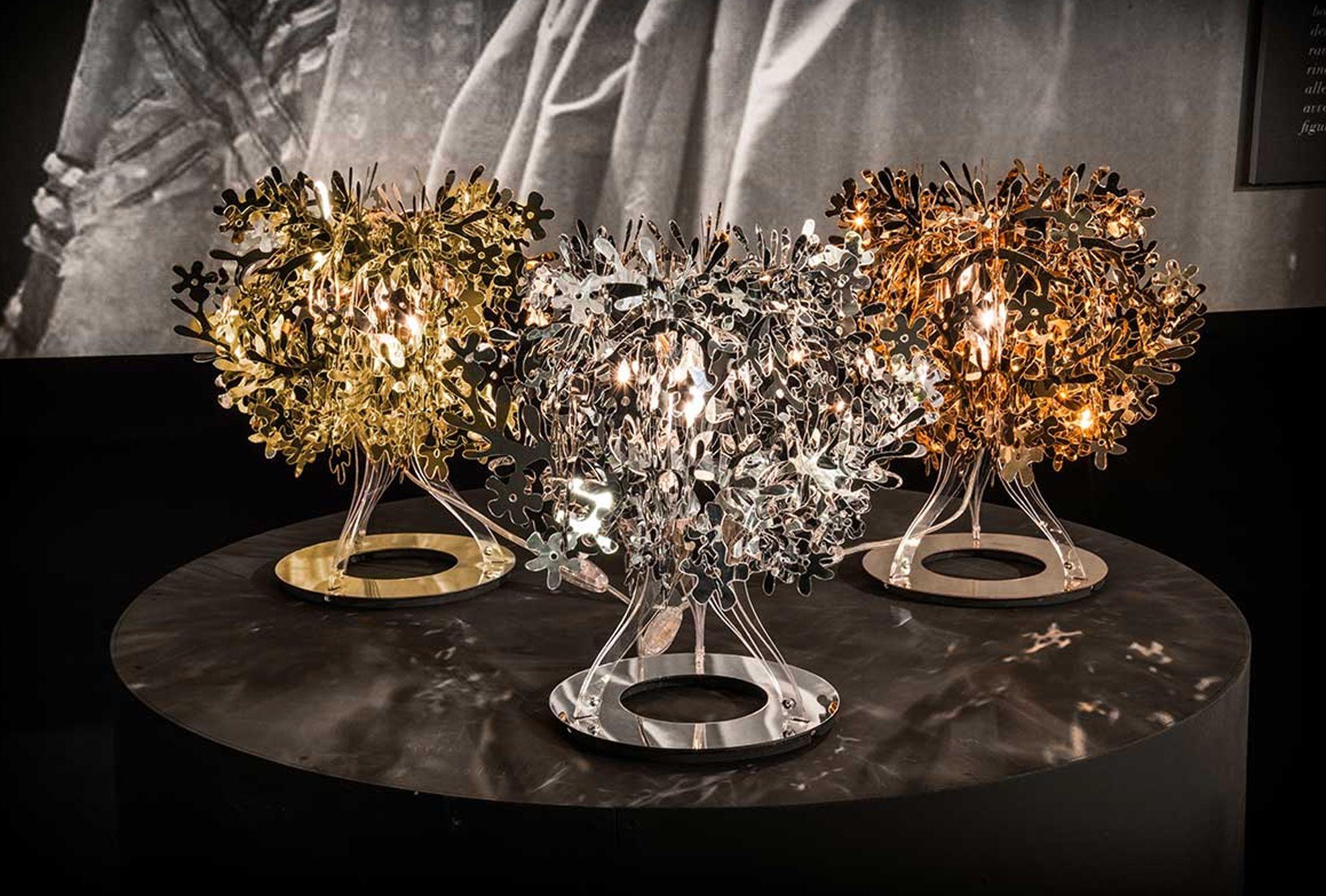 Lampade Per Ufficio Prezzi.Lampada Da Tavolo Slamp Fiorella Gold Silver Copper Brillaluce It