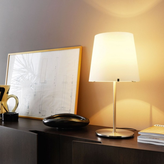 Lampada da tavolo fontana arte 3247ta altezza 60cm - Lampada sospensione sopra tavolo altezza ...