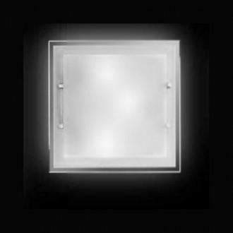Lampada da soffitto quadrata Perenz 5744 Bianca (media - larghezza 40cm)