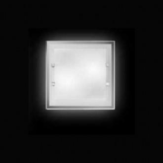 Lampada da soffitto quadrata Perenz 5742 Bianca (piccola - larghezza 30cm)