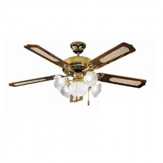 Ventilatore da soffitto classico con quattro luci Perenz 7066