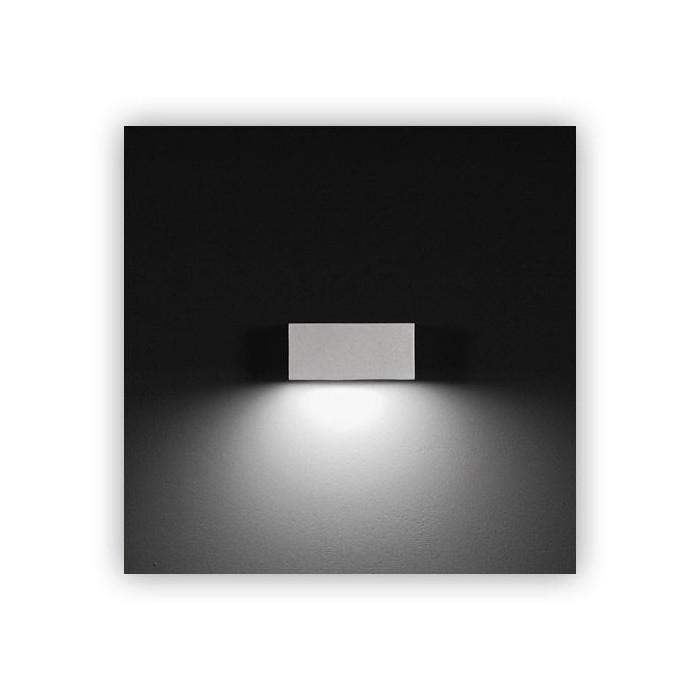 Lampada da parete esterno ares midna led monoemissione - Lampade per esterno a led ...