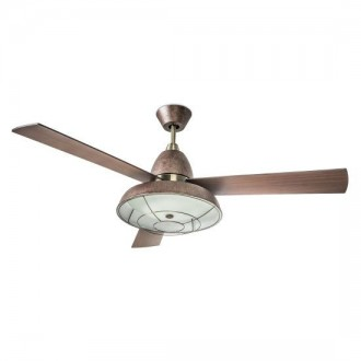 Ventilatore a soffitto con luce Led Leds C4 Vintage