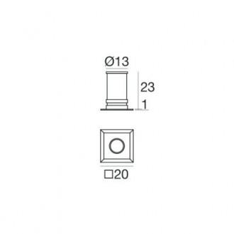 Faretto da incasso I-lèd Aspho 1,0 W quadrato