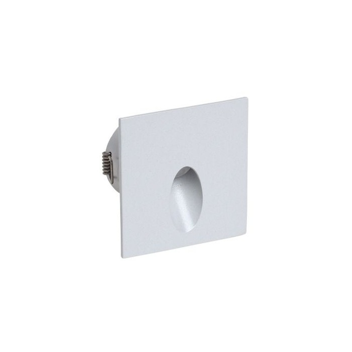 Faretto da incasso a parete I-Led Quara quadrato 2 W