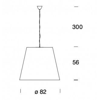Lampada a sospensione Fontana Arte Amax (diam.82cm)