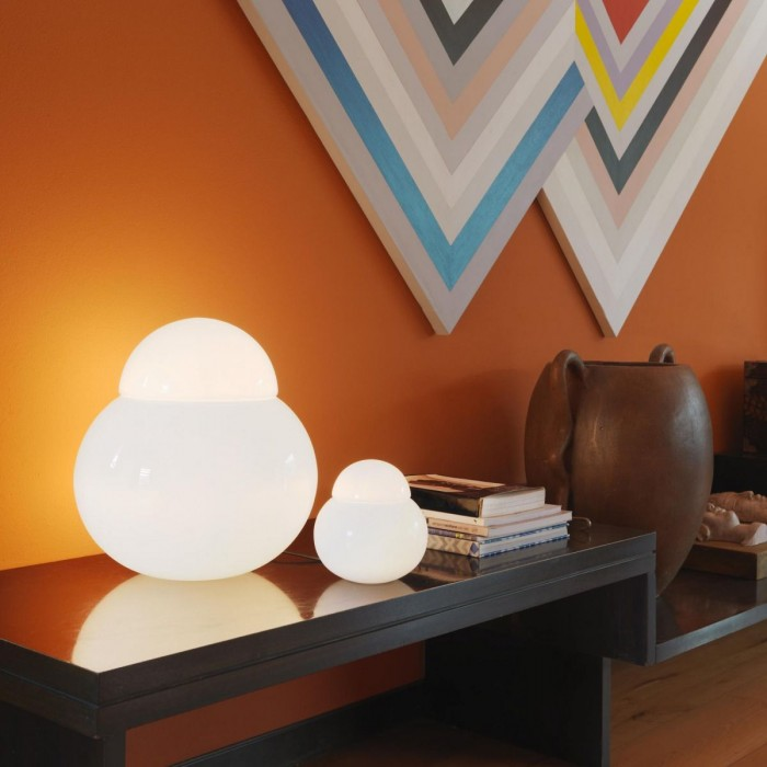 Lampada Da Tavolo Fontana Arte Daruma 40cm Brillaluce It
