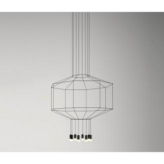 Lampada a sospensione Vibia Wireflow 8 luci