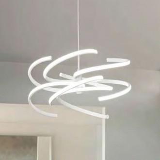 Lampada a sospensione LED in metallo verniciato bianco Perenz 6396