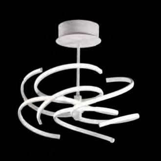 Lampada da soffitto LED in metallo verniciato bianco Perenz 6398