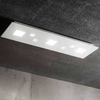 Plafoniera LED in metallo verniciato bianco Perenz 6392 B LC