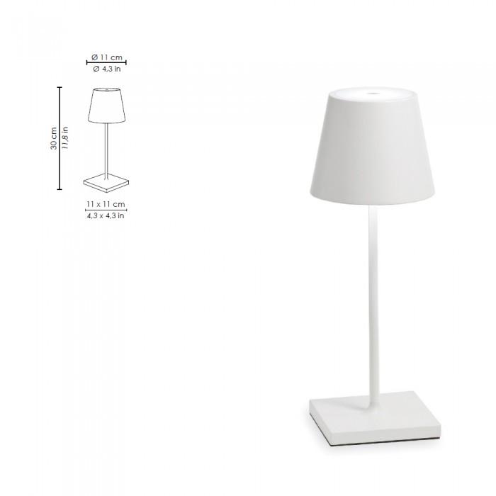 Lampada Da Tavolo Led A Batteria Portatile Poldina Pro Mini Di Zafferano
